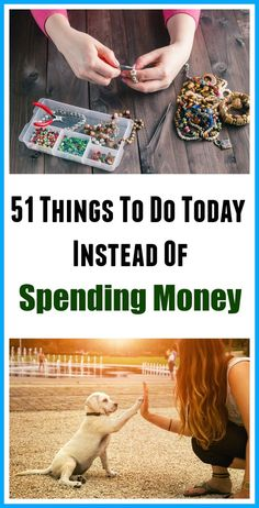 Things to do today instead of spending money - Do you find yourself spending money on things, just as a way to pass the time? Here are 51 Things to Do Today Instead of Spending Money| Frugal Living| Living on a Budget| Personal Finance| Money Saving Tips