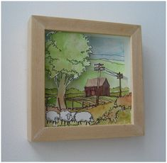Shadowbox Cut-out Painting  http://bkids.typepad.com/bookhoucraftprojects/2008/02/project-6-shado.html