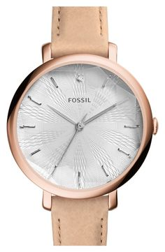 This rose gold Fossil watch adds a cool touch with a kaleidoscope dial and perfect for everyday.