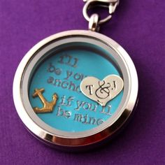 I'll Be Your Anchor Floating Locket Set - Spiffing Jewelry