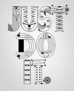 Designspiration — NIKE x Type illustrations 2010 on the Behance Network