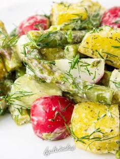sałatka ze szparagami zdrowy szybki przepis bezglutenowy i wegański Zucchini, Grilling, Salad, Healthy Recipes, Vegetables, Fit, Shape, Crickets, Salads