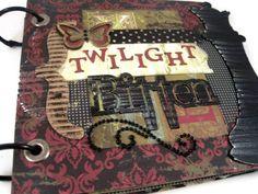 Album, Scrapbook Album, Twilight Movie Album, Twilight Movie, Twilight Scrapbook, Twilight Bitten, Mini Handmade Album. $30.00, via Etsy.