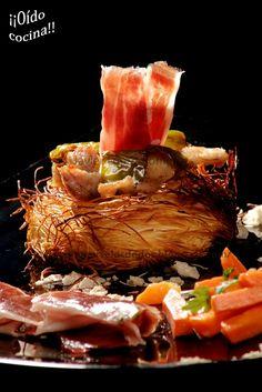 ¡¡Oído cocina!!: Kataifi con secreto, pimiento y jamón ibérico puro...