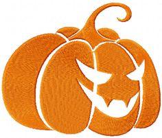 Pumpkin free machine embroidery design