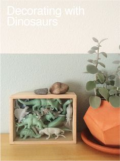 A few ideas on incorporating dinosaurs into your decor