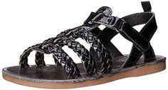 OshKosh B'Gosh Minka-G Multi Strap Fashion Sandal (Toddler/Little Kid). Perfect for a dressy or casual look. Adjustable hook and loop with faux buckle. Easy on and off. 100% man-made materials.
