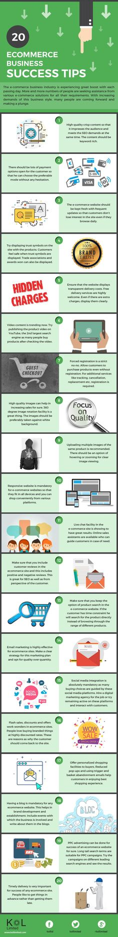 Starting an Online Shop? 20 Tips for #Ecommerce Website Beginners #Infographic