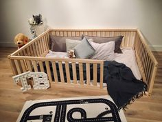 New Toddler bed Play bed frame Children bed Bunk bed Wood Floor bed Wooden bed Wood Montessori bed Gift, Bed frame Toddler Bed Frame, Diy Toddler Bed, Kids Bed Frames, Toddler Beds For Boys, Floor Bed For Toddler, Toddler Bed On Floor, Toddler Bedding Boy, Full Size Toddler Bed, Baby Floor Bed