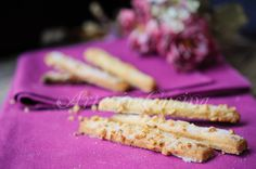 Bastoncini alle mandorle biscotti dolci veloci vickyart arte in cucina
