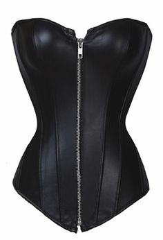 This synthetic leather corset is the real deal! with an easy to close zipper and real ribbon lace! Available in sizes S-6XL! Shipping usually takes 8-16 days and domestic delivery is always free! Note