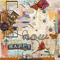 """Be Happy Now"" by Heather, as seen in the Club CK Idea Galleries. #scrapbook #scrapbooking #creatingkeepsakes"