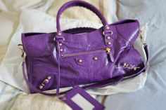Balenciaga Part Time in Ultraviolet with gold hardware. Balenciaga City Bag, Ultra Violet, Gold Hardware, My Photos, Shoulder Bag, Purple, Bags, Fashion, Handbags