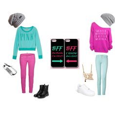 """""""best friends outfits"""" by mikaelamendez on Polyvore"""