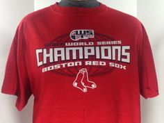 Boston Red Sox 2007 World Series Champions Men's Tee Shirt Delta L #MLB #BostonRedSox #WorldSeries