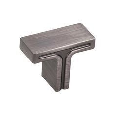 This brushed pewter finish cabinet T knob with flat bar design is a part of the Anwick Series from Jeffrey Alexander. A perfect blend of craftsmanship in traditional and contemporary design to complement any decor.