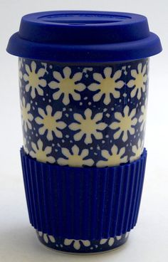 Travel Mug (Mornin' Daisy)  The Polish Pottery Outlet in Englewood, CO