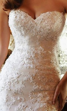 wedding dress wedding dresses: I love the lace on the top part of the dress.