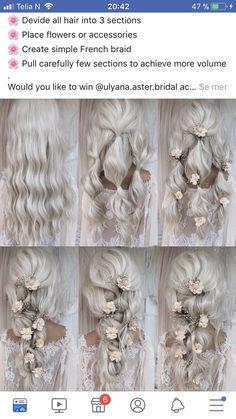 Wedding Hair And Makeup, Bridal Hair, Hair Makeup, Fancy Hairstyles, Bride Hairstyles, Wedding Hair Inspiration, Homecoming Hairstyles, Gorgeous Hair, Beautiful