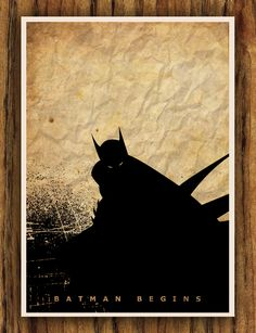 Batman Begins Movie A3 Poster. $18.00, via Etsy.