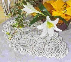 Tecendo Artes em Crochet: Centro de mesa Oval Lindinho - com Gráfico!