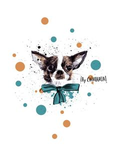 Buy Chic Chihuahua dog Art Print by Studio Caravan. Worldwide shipping available at Society6.com. Just one of millions of high quality products available.