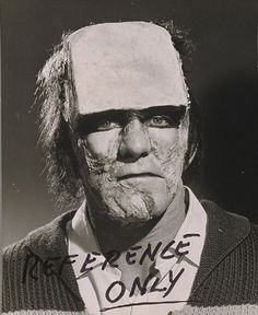 "Test make-up by Roy Ashton for ""The Evil of Frankenstein"" (Freddie Francis, 1964). Professional wrestler Kiwi Kingston played the Monster."