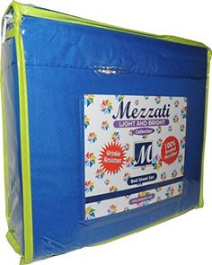 Mezzati Kids Toddler Teen Bedding - Best, Softest, Coziest Bed Sheets For Your Kid on Amazon! ★ ON SALE TODAY ★ High Quality Wrinkle Resistant Brushed Microfiber Bedding Sets - Deep Pocket - Light and Bright Collection For Boys and Girls - Exclusive Fun Bright and Bold Colors ★ Get BONUS eBook - Sleep Well: Guide for Healthful Sleep ★ 100% MONEY BACK GUARANTEE!! (Blue, Full), http://www.amazon.com/dp/B00M7ICNRQ/ref=cm_sw_r_pi_awdl_x108ub13EA0C3