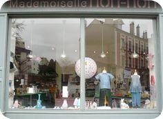 Vitrine, Mademoiselle Non-non concept store, La Garenne-Colombes, France.