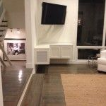 Floating TV Cabinet with Speaker Cloth Doors