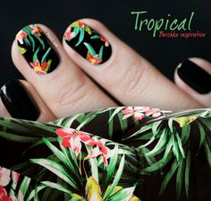 Nail art Tropical | PSHIIIT