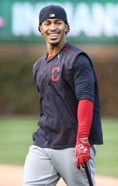 Cleveland Indians Francisco Lindor, heading back to the locker room after taking batting practice in the batting cages before Game 5 of the World Series against the Chicago Cubs at Wrigley Field on Sunday, Oct. 30, 2016.  (Chuck Crow/The Plain Dealer)