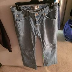 Levi's Low Rise Boot Cut Jeans Levi's Low Rise Boot Cut Jeans. Size 6 Medium. Bottom of legs is a little messed up because they fit me too long. Otherwise in good condition. Need ironing. Levi's Jeans Boot Cut