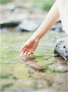 image by brushfire photography of bride in water