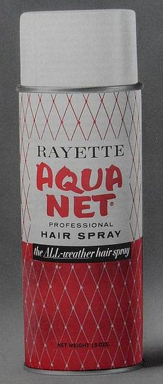 Aqua Net - AKA Aqua Glue - Dad would use this everyday to keep the little curls down.  He used the purple can.