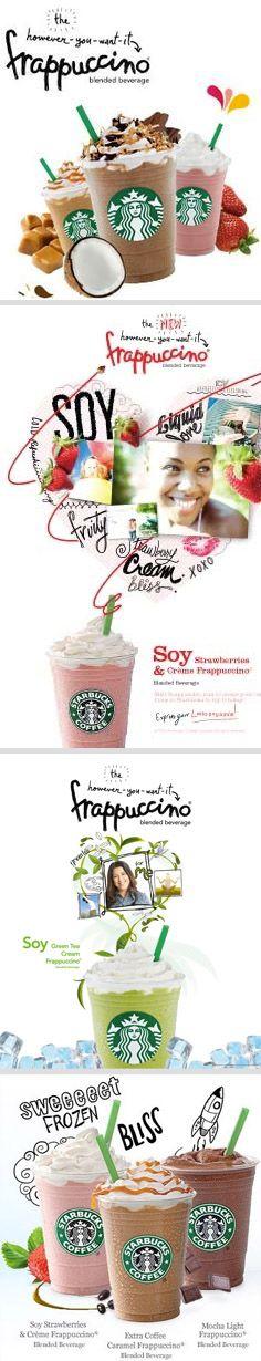 advertising set | Starbucks Frappuccino