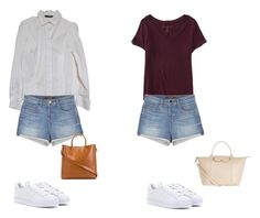 """""""Untitled #9"""" by fancywan on Polyvore featuring J Brand, adidas, Ralph Lauren, Aéropostale and Longchamp"""