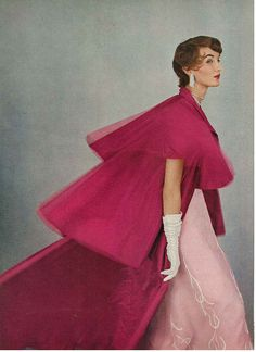 1953 - Dior evening cape in Vogue