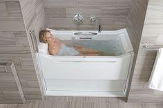 Kohler's Walk-In Bathtub - Awesome Stuff 365 Walk In Tubs, Walk In Bathtub, Bathtub Drain, Tub Faucet, Bathtub Remodel, Diy Bathroom Remodel, Shower Remodel, Mosaic Bathroom, Bathroom Tubs