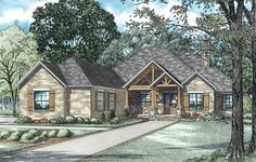 This one is my absolute favorite house plan.  Rustic Brick Ranch Home With Sunroom - 60603ND | 1st Floor Master Suite, Butler Walk-in Pantry, CAD Available, Corner Lot, Den-Office-Library-Study, PDF, Ranch, Split Bedrooms | Architectural Designs