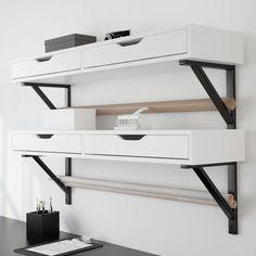 EKBY ALEX Shelf With Drawer