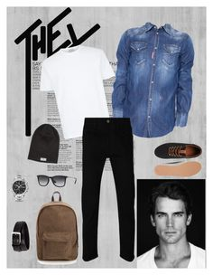 """""""Untitled #4"""" by aceboss ❤ liked on Polyvore featuring Dsquared2, Gucci, Jack & Jones, Ray-Ban, 21 Men, TAG Heuer, Tom Ford, Nudie Jeans Co., men's fashion and menswear"""