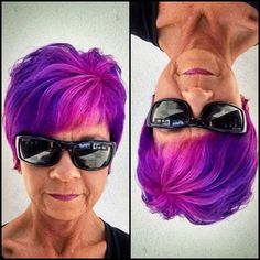 pink and purple short hair- rockin' it lol it's another pic of future me!