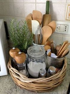 Amazing French Country Kitchen Design and Decoration Ideas - Amazing French Country ., Amazing French Country Kitchen Design and Decoration Ideas - Amazing French Country Kitchen Design and Decoration Ideas Apartment Kitchen Organization, Fridge Organization, Farmhouse Side Table, Farmhouse Style, Country Style, French Farmhouse, Farmhouse Decor, Farmhouse Design, French Cottage