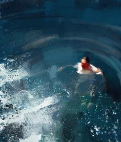 Pedro Covo   ... Pedro Covo Treading Water photo Etc-Inspiration-Blog-Swimmer-By-Pedro