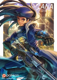 Fan art of young Ana from Overwatch