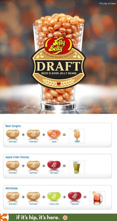 New Draft Beer Flavored Jelly Belly jelly beans and recipes as to how to enjoy it as a cocktail Fun Recipes, Candy Recipes, Cookie Recipes, Recipies, Jelly Belly Beans, Jelly Beans, Shandy, Best Candy, Order Up