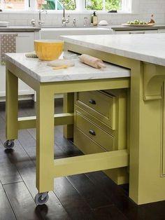 Astuce plan de travail ou table supplémentaire pour une petite cuisine