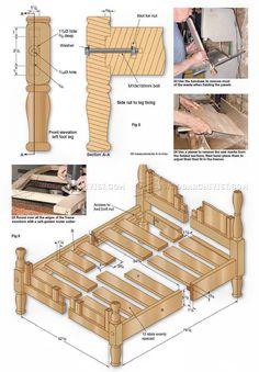 Oak Bed Plans - Furniture Plans
