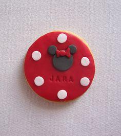 Galleta Minnie Mouse fondant